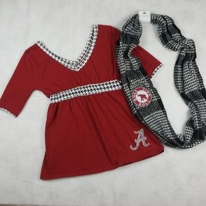 University of Alabama Top and Scarf